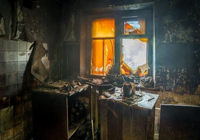 chimney fire soot in aurora kitchen